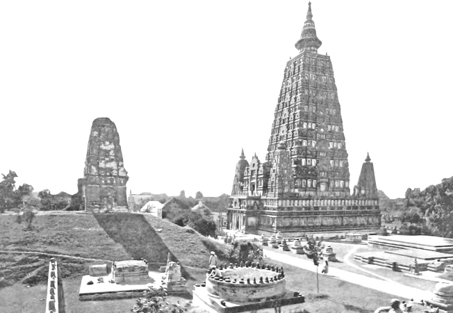 The Mahabodhi Temple just after Beglar's repairs and renovations.