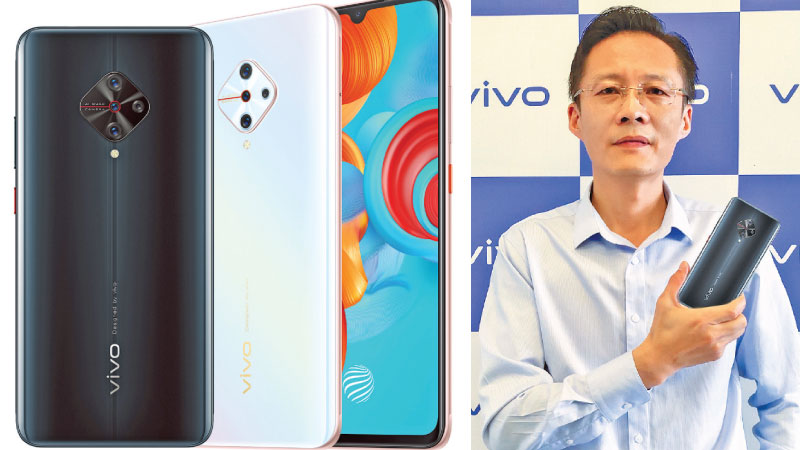 vivo Mobile Lanka CEO Kevin Jiang with the all new vivo S1 Pro vivo S1 Pro device