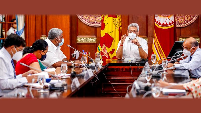 President Gotabaya Rajapaksa chairing the meeting. Picture by President's Media Division.