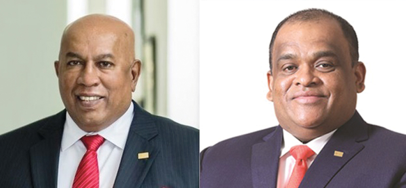 Chairman and Chief Executive Mohan Pandithage and Co-Chairman Dhammika Perera