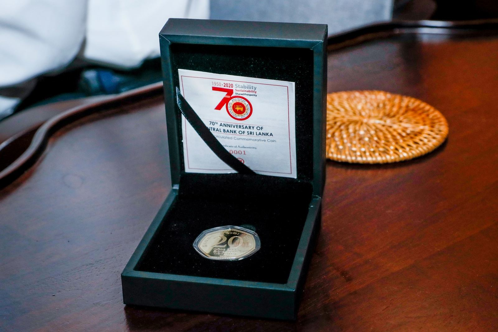 Rs. 20 Commemorative coin to mark Anniversary of CBSL presented to President  | Daily News