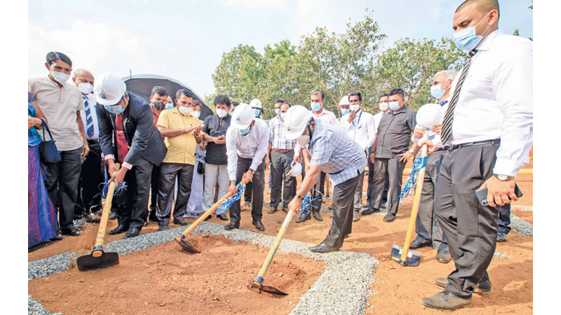 Ground breaking ceremony led by Minister Dallas Alahapperuma and officials