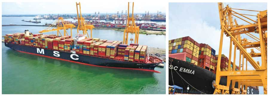 The strategic East Container Terminal of the Colombo Port-ECT inaugurating operations last year