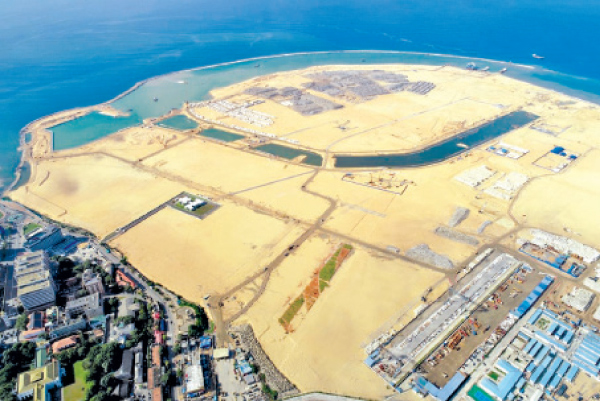 The Port City project under construction