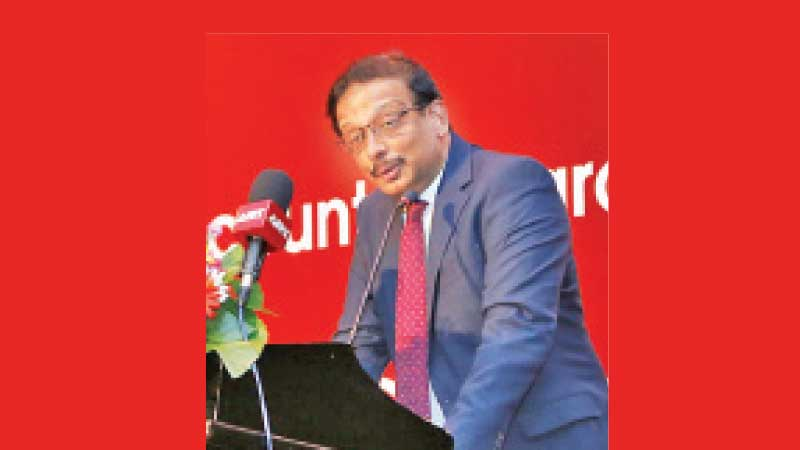 Secretary to the Treasury  S. R. Attygalle at the event