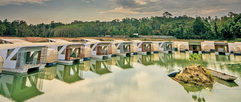 A glimpse of Bolagala Floating Agro Tourism Resort