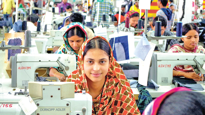 Workers at a garment factory in Gazipur, Bangladesh. Women make up the overwhelming majority of the workforce in Bangladesh's garment industry.
