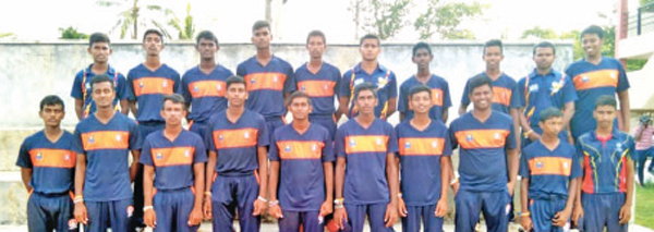 Piliyandala Central College First Eleven Cricket Pool 2020/2021. The Vice Captain of the team Sithum Nimalka Kumara standing fourth from left in the front row. (Dilwin Mendis, Moratuwa Sports Special Correspondent)