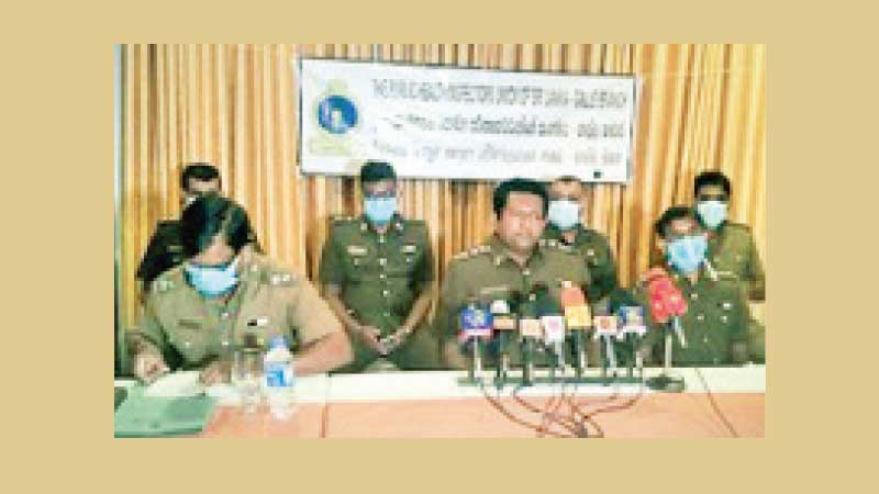 PHIs at the press briefing. Picture by Mahinda P. Liyanage, Galle Central Special Corr.