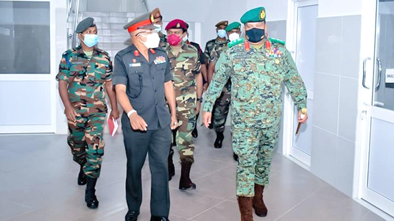 Army Commander General Shavendra Silva with senior officers