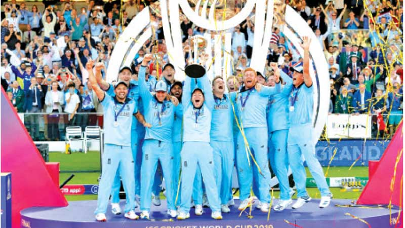England won the World Cup in 2019