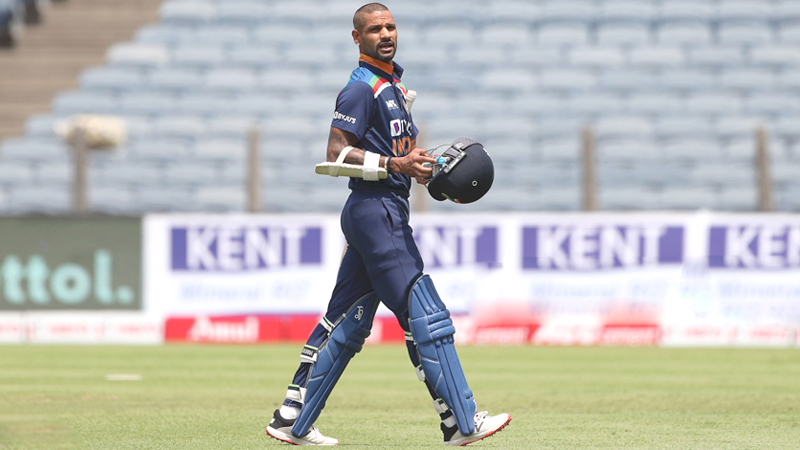 Shikhar Dhawan is in the  fray to be named captain  of the team