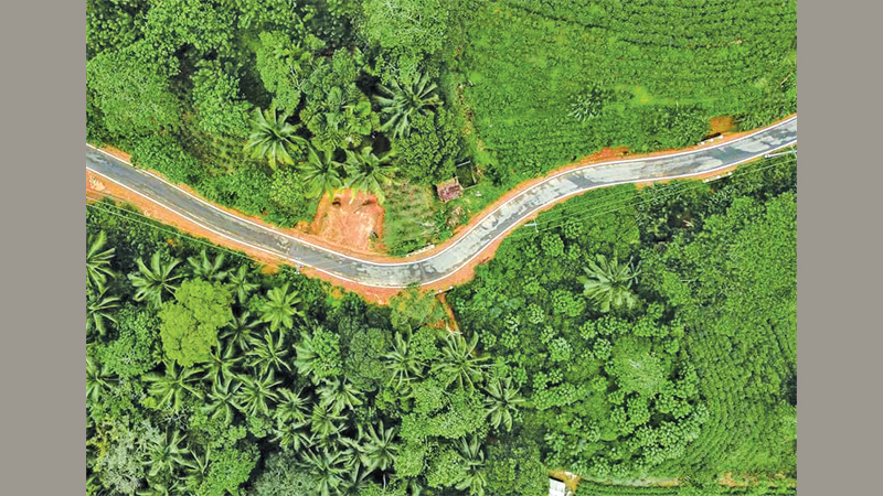 The Lankagama - Neluwa Road has been constructed in an environmentally friendly manner.