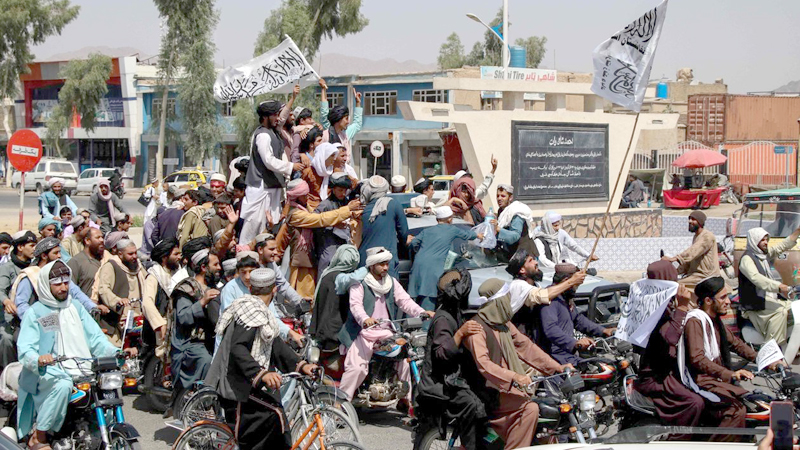 Taliban celebrates U.S. exit from Afghanistan.