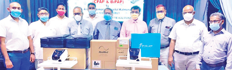 The donations were made to Kalmunai Ashraff Memorial Hospital (AMH) Medical Superintendent (MS) Dr.A.L.F.Rahman in the  presence of Doctors M.M. Hafeelul Ilahi, A.R.M.Haris, A.L.Farook and and N.Suhaib.