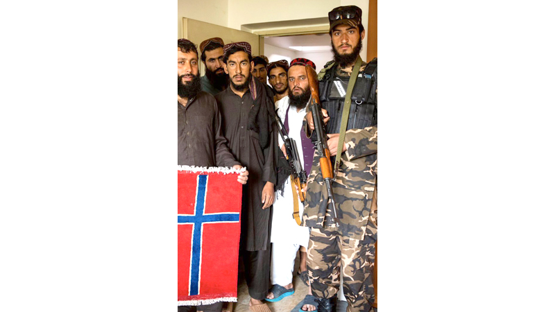 Taliban fighters occupy the Norwegian embassy in Kabul.