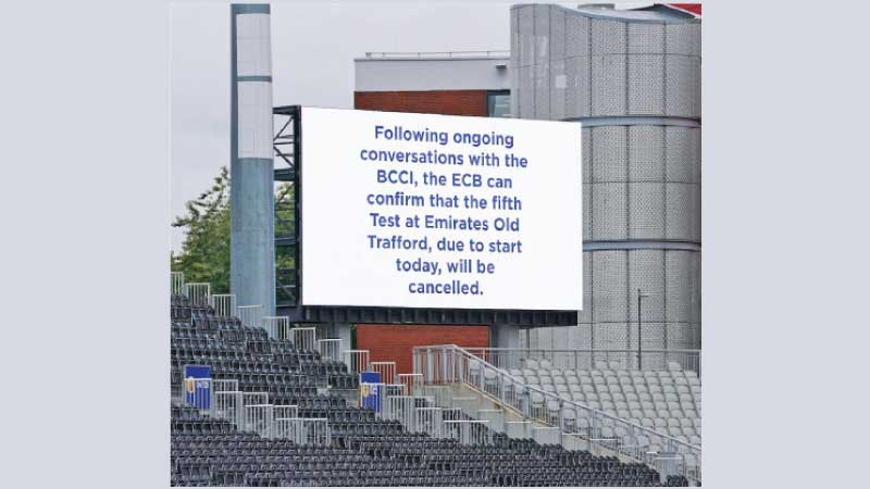 The fifth Test was scheduled to start yesterday