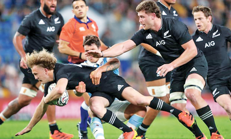 New Zealand ran in five tries against Argentina