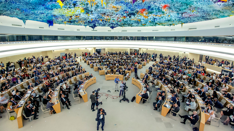 The UNHRC in session.