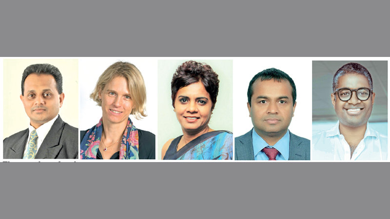 The panelists for the event