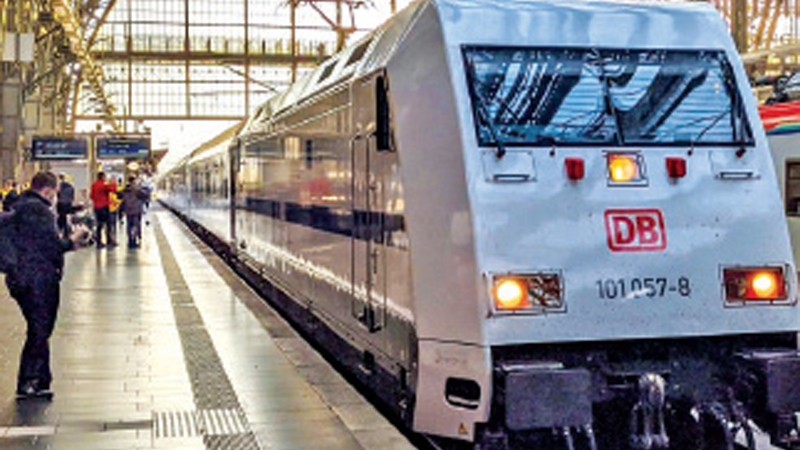 The first autonomous driverless train in the world operated by the German railway operator Deutsche Bahn.