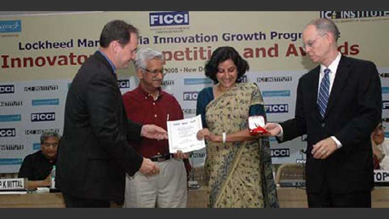 Dr. Chandrika Varadachari and other officials at an event.