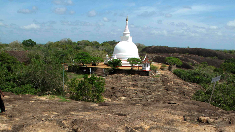 Tantirimalai, a mystical    archaeological site in the    Northern Central Province of    Sri Lanka, a place of huge historic    importance with its giant boulders    hiding ancient buddhas hewn out of     the rock face and somewhere lost in    the sands of time is a priceless    golden bat necklace