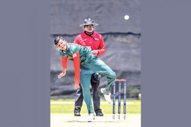 Rakibul Hasan of Bangladesh performed the hat-trick against Scotland in their ICC U19 Cricket World Cup Group C match at Potchefstroom on Tuesday.