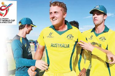 Australia's match winner Connor Sully in their ICC Under 19 World Cup match against England.