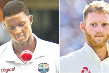 West Indies captain Jason Holder and  England captain Ben Stoke