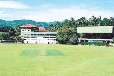The Asgiriya turf with the scenic beauty with the hard work of the three groundsmen through- out the years.    ( Pics. By Upananda Jayasundera-Kandy Sports spl.Corrs)
