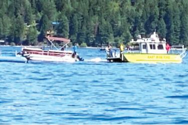 The area where the two small planes collided at Lake Coeur d'Alene.