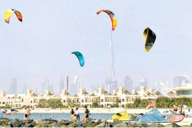 Dubai's attractions are not limited to indoor malls -- despite the heat.