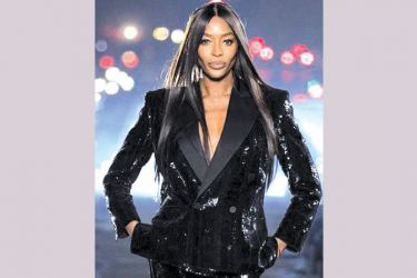 Naomi Campbell opened the Paris digital fashion week on Monday.