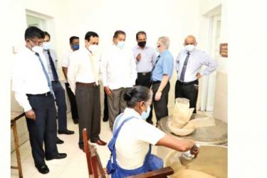 Central Province Governor Lalith U. Gamage went on an inspection tour of the ward complex of the 100-bed Ayurveda Hospital in Pallekele, Kandy yesterday.