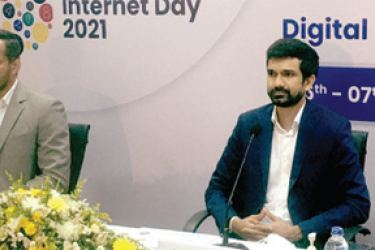 FITIS members at the launch of Internet Day 2021. Picture by Dinesh Perera.