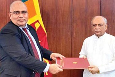 The appointment handed over by the Foreign Minister, Dinesh Gunawardena to Andre Fernando.