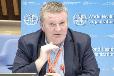 Executive Director of the WHO Health Emergencies Programme  Mike Ryan