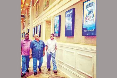 Directors of MPI Film Circuit making an official inspection visit to the SPI CINEMAS mega complex at PALAZZO CENTRE in Chennai, India exploring the opportunities of making global partnerships