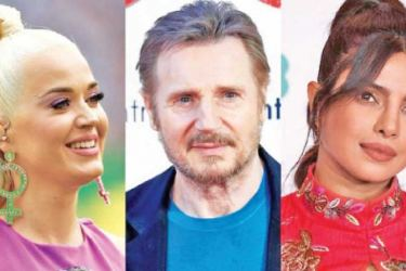 From Left: Katy Perry, Liam Neeson and Priyanka Chopra Jonas are among the celebs making the appeal to G7 countries.