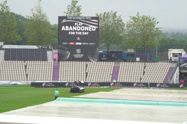 India and New Zealand have been frustrated by rain