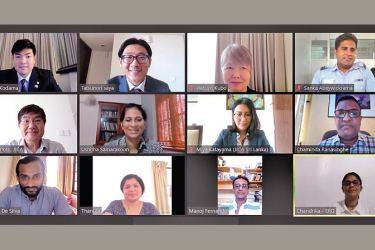 The Assigning ceremony was held online where the two  where the new Japanese volunteers were introduced.