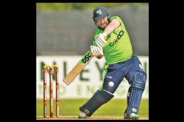 Paul Stirling plays a shot