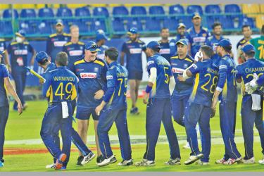 Sri Lanka will look for a repeat performance in the T20 series. Pic courtesy SLC