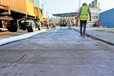 The South Asia Gateway Terminals (SAGT) road surfacing project converts Sri Lanka's single-use plastic waste into an industrial raw material for road construction.