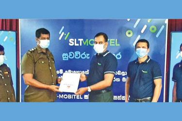 Officials of SLT-MOBITEL at the inauguration ceremony