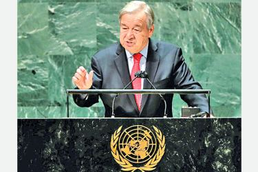 United Nations Secretary-General Antonio Guterres addressed the 76th session of the UN General Assembly on Tuesday.