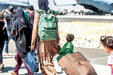 Afghans are attempting to flee the country.