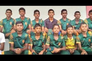 President's College Maharagama under 15 Cricket Pool 2019. (Picture by – Dilwin Mendis, Moratuwa Sports Special Correspondent)