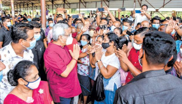 President Gotabaya Rajapaksa participated in several election rallies in the Puttalam District, yesterday.  Pictures by Puttalam Group Corr. and President's Media Division.